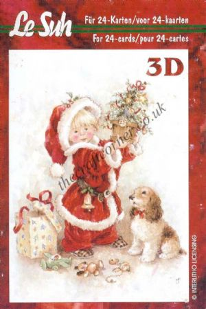 Christmas Children Mini 3D Decoupage Book from Le Suh